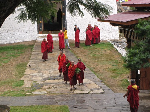 monks make their way