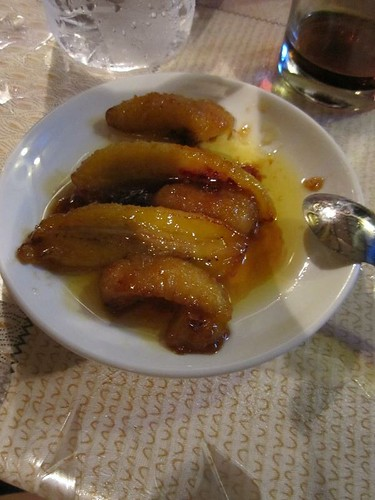 Fried bananas dessert