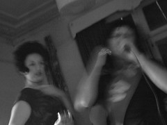 Elvis and Shirley Bassey (woodscolt79) Tags: nye newyearseve karaoke popstars