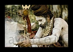 Sadhu preparing for Morning Puja | Kolkata (A y A n) Tags: morning india west digital canon rebel holy offering devotee hindu kolkata bengal puja calcutta pilgrim ganga sadhu ganges mela trishul ayan sagar pujo holymen gangasagar tantrik xti aghori aghora hiduism 400d khasnabis ayancoin