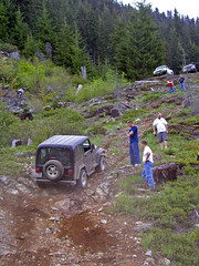 Redneck Mountain Climbing #3 (Trystian Sky) Tags: mountain truck offroad 4x4 hill olympus offroading c4040 cleelumlake c4040z olympus4040z 4040z olympus4040zoom