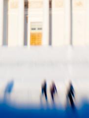 light & shadows (miemo) Tags: winter shadow people snow blur church silhouette lensbaby facade finland helsinki europe exterior cathedral olympus outoffocus pillars f28 kruununhaka composer ep1 senatesquare suurkirkko singleglass