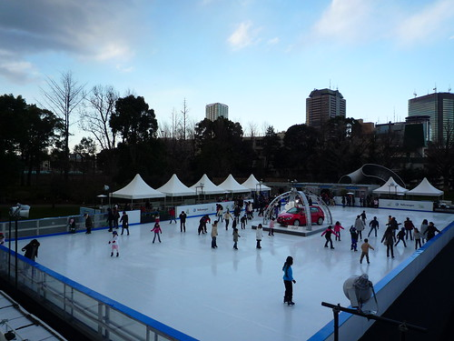 skating at Tokyo MidTown