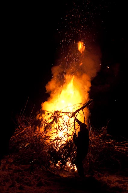 Out with the old - New Years bonfire