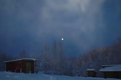 Night has fallen - over Lene - Sweden (Cycling the world) Tags: winter friends snow ice sweden newyear logcabin 15challengeswinner