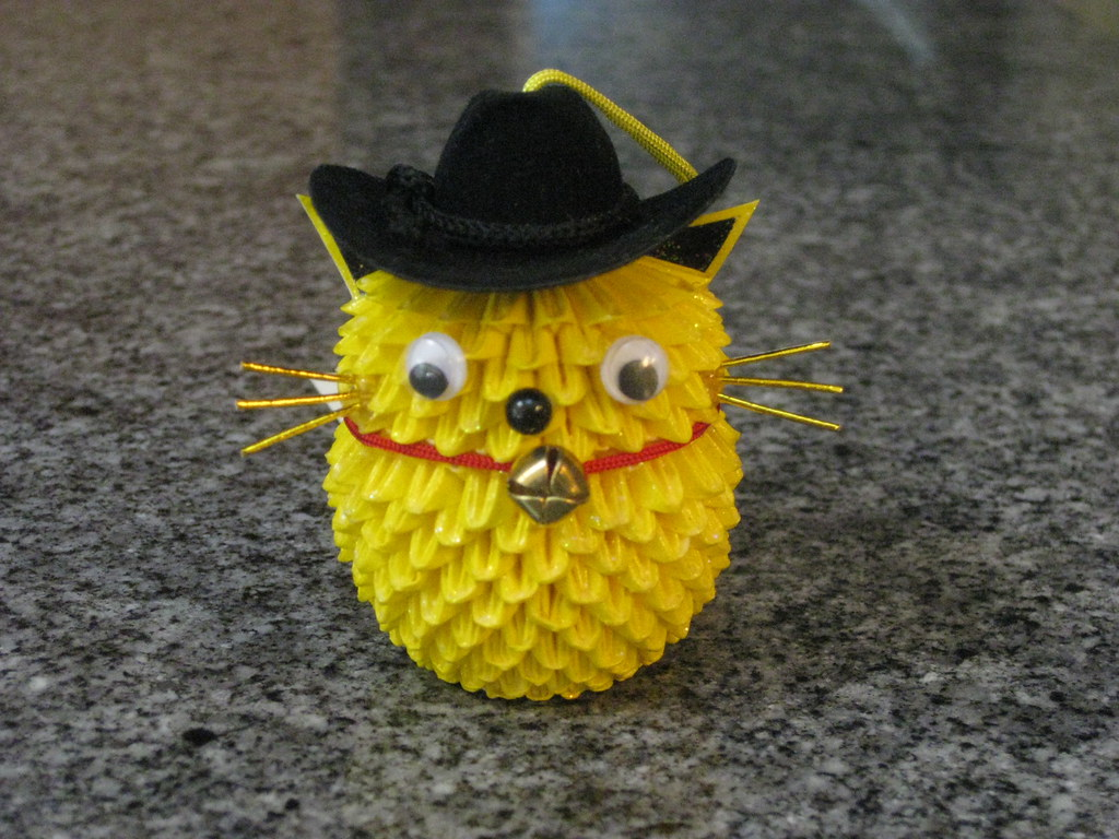 Yellow Cat with a Cowboy Hat