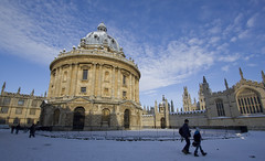 Snowy Oxford (Lawrence OP) Tags: camera snow college oxford radcliffe bodleian 2010 allsouls