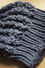 'Shroom (whitneybee) Tags: hat knitting yarn charcoal shroom crafty knitty ravelry
