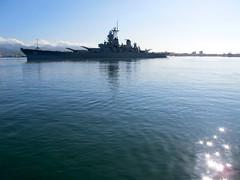Battleship Missouri leaving port. (jai Mansson's photography.) Tags: ocean usa cinema film 35mm movie hawaii harbor pacific oahu missouri production pearl battleship arri moviemaking appletv jaimansson