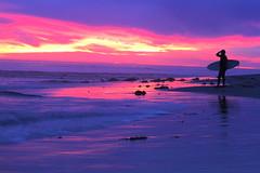 Topanga Point (Colin Maduzia) Tags: ocean california sunset beach canon landscape pacific surfer topanga canon7d