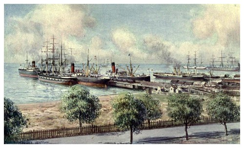 026-Puerto de Geelong en Victoria-Australia (1910)-Percy F. Spence