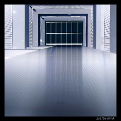 slippery wet (sediama (break)) Tags: blue white germany pentax hannover blau weiss assurance versicherung cautionwetfloor k20d sediama unusualviewsperspectives achtungrutschgefahr igp4756 staircasebutnostairs ©bysediamaallrightsreserved