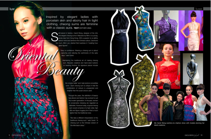 Mazzario Cheongsam on Laguna Magazine