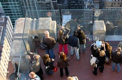 Looking down on the lower level (TravelsWithDan) Tags: nyc newyorkcity usa newyork tourism rockefellercenter tourists topoftherock 30rock