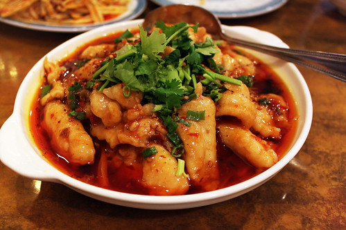 fish cooked with sichuan spices