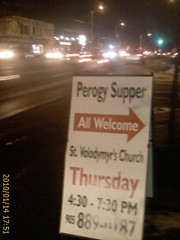 Perogy Supper Church Sign