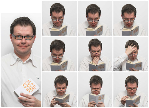 how to pretend reading a book by HamburgerJung, on Flickr