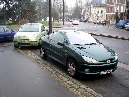 Peugeot 207CC et Citroen C3 pluriel vertes by gueguette80