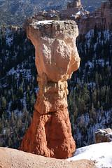 Bryce Canyon National Park (Utah USA) (Meteorry) Tags: park winter usa snow america utah ut rocks december unitedstates spires hiver unitedstatesofamerica erosion national redrocks hoodoo neige geology brycecanyon 2009 pinnacles hoodoos tentrock meteorry earthpyramid aguapoint