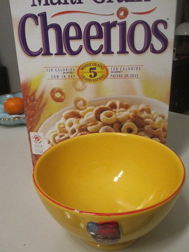 Cheerios in my favorite bowl