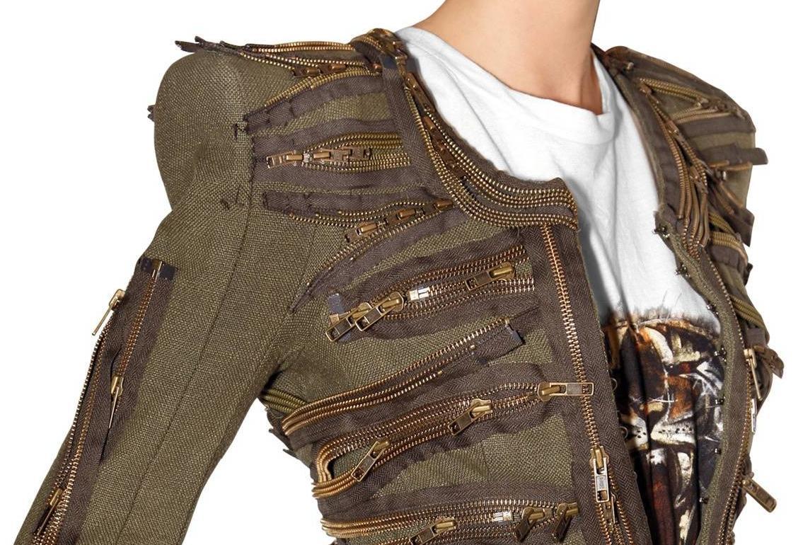 Balmain SS2010 zipper jacket 2 5
