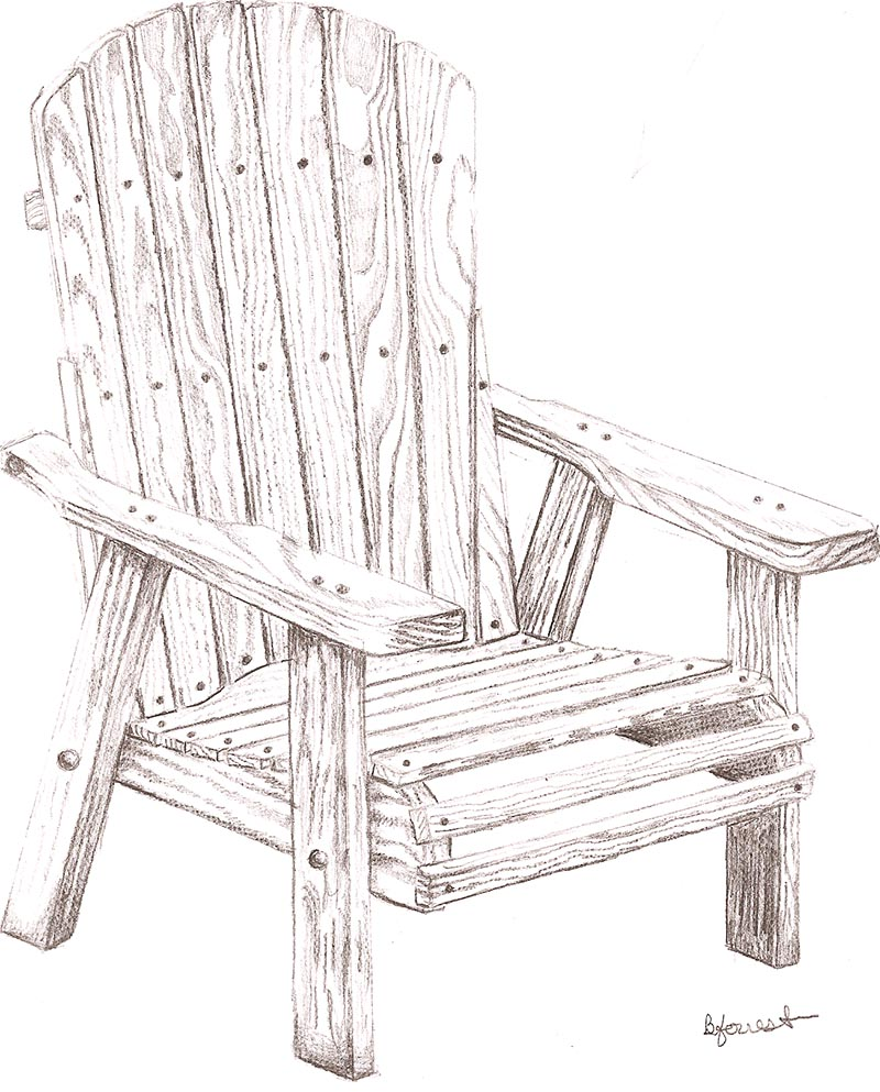 Wooden Chair Sketch