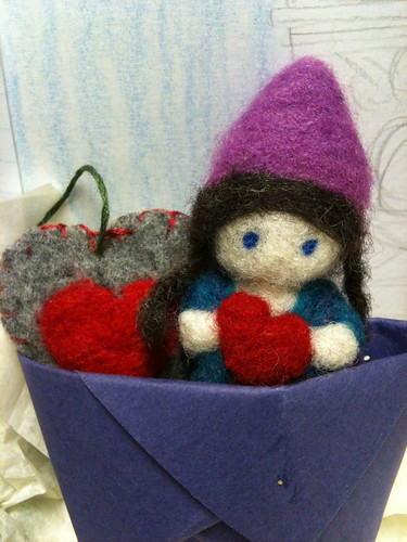 Felt Heart and Love Gnome