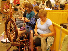 09 TN State Fair #59: Wool Spiining Contest