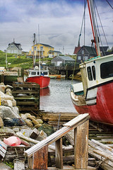 Peggy's Cove, NS (sminky_pinky100 (In and Out)) Tags: houses red canada water landscape boats rocks pretty novascotia scenic textures peggyscove southshore fishingvillage shacks 5photosaday atlanticprovinces omot cans2s canadamedal theperfectphotographer