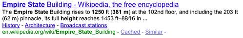 Google Snippets via Google Square
