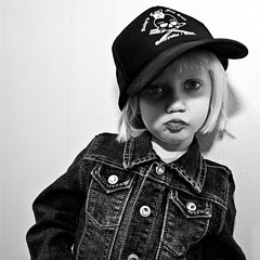 little trucker (::big daddy k::) Tags: california cute kid child frankie emeryville truckerhat theclash rudyscantfailcafe hatsforhaiti ownedbygreenday