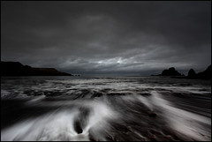 Free Flow (angus clyne) Tags: sea cliff snow storm rain dark bay scotland north wave cliffs east pebble foam rush surge gravel sleet flikcr thecruelsea leefilters butimallrightnow iusedtobeafisherman