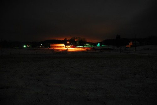 Night view of the farm
