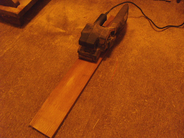 Rough Sanding with Belt Sander