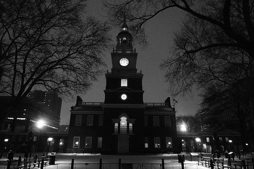 snow, independence hall