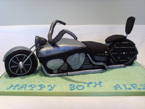 Harley Davidson Bike Birthday Cake