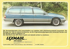 Lexmaul Omega (Hugo-90) Tags: auto car ads advertising gm omega voiture bil brochure opel stationwagon generalmotors drucksache lexmaul