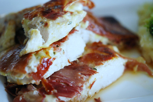 Parmesan Chicken Breasts with Crispy Posh Ham by Jamie Oliver