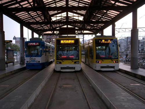 鹿児島駅:市電乗り場