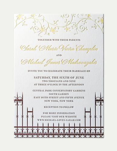SC&MM Wedding Invitation