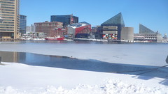 Baltimore Inner Harbor Iced Over (A.Currell) Tags: morning 2 3 snow feet ice foot harbor frozen md downtown day snowy over deep maryland baltimore inner commute after iced blizzard nasty everywhere 2010