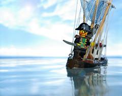 Pirates of the Bathtub (Shobrick) Tags: sea brick water ship lego pirate custom