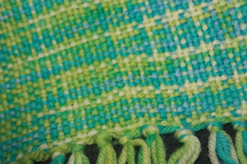 1st weaving project - close up