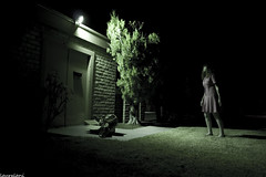 (lauralani) Tags: girl grass night backyard alone 365 ridgecrest lauradeangelis lauralani emptypackage perfectweatherthisevening