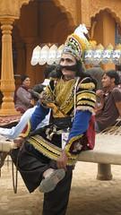 Ravan takes a break!! (knightinz) Tags: india festival funny diwali deepawali ravan surajkund faridabad dusshera surajkundmela indiaincredibleindiasurajkundsurajkundmelaravan diwalifun
