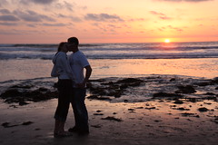 Love at sunset (San Diego Shooter) Tags: love sandiego valentines pacificbeach sunsetkiss romanticsunset valentineskiss kissundersunset