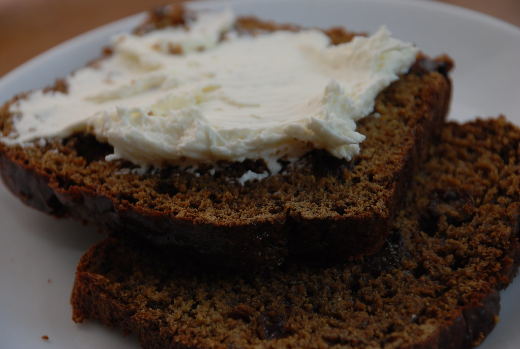 boston brown bread with cream cheese
