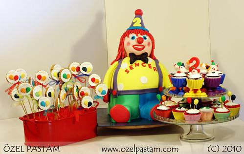 Palyaço Pasta Seti / Clown Cake