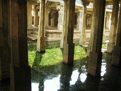 588. Hampi (6): Underground Shiva Temple (profmpc) Tags: underground stonecarving hampi shivatemple groundwater vijayangara krishnadevarayar