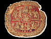 Medallion with Christ, Orpheus etc (julianna.lees) Tags: ancient silk shroud textiles sassanian doubleheaded sassanid suaire